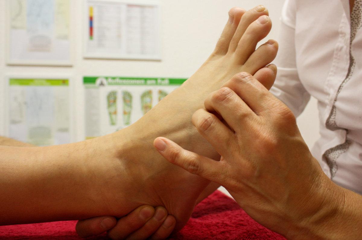 reflexní terapie nohy